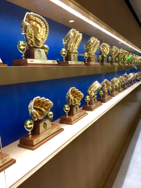 Years of Golden Gloves in Dodger history