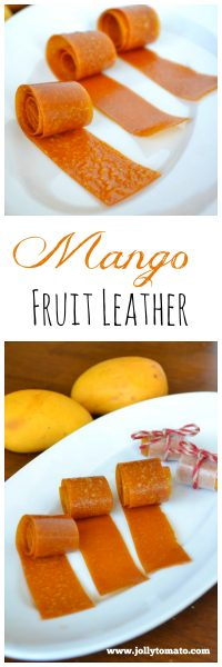 Easy homemade mango fruit leather - no sugar added!