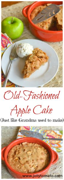 "An old-fashioned apple cake from ""Upscale Downhome"" by Rachel Hollis"