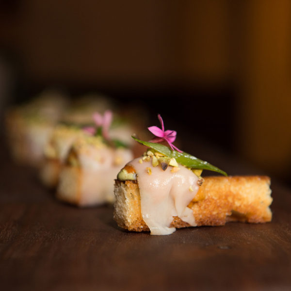 Sea Urchin Brioche with Lardo, Pistachios, and Truffle Butter by Timothy Hollingsworth (Photo Credit: Gamma Nine)