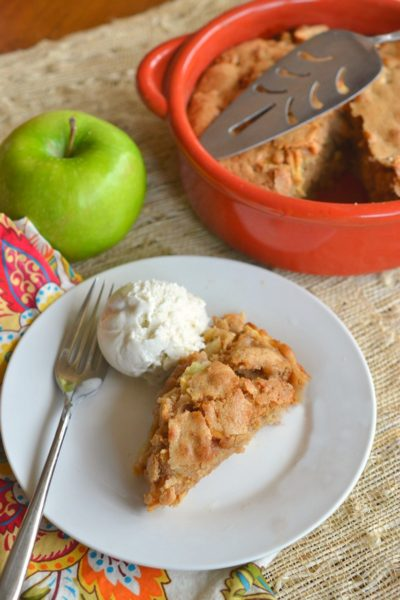 Apple Cake and Ice Cream