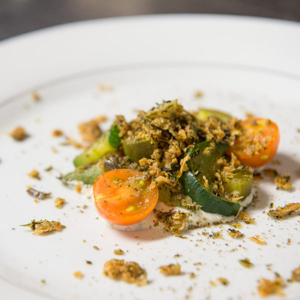 Cucumbers and Cherry Tomatoes with Za'atar and Pickled Ranch Dressing by Jon Shook and Vinny Dotolo (Photo Credit: Gamma Nine)
