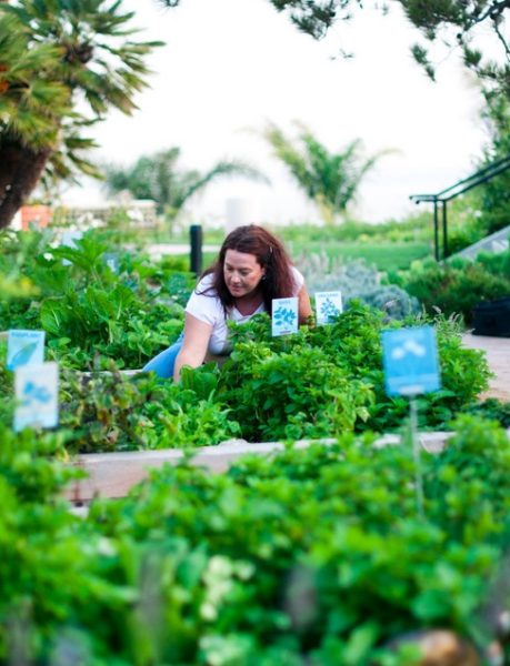 Geri Miller in her garden, via Home Grown Edible Landscapes