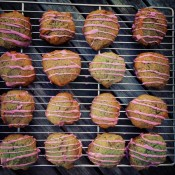 iced purple sweet potato cookies
