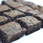 You can't really even seen the green in these brownies