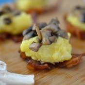 mushroom polenta bites