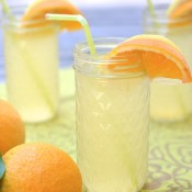 orange ginger lemonade glass