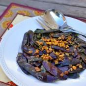 purple snow peas walnuts 2