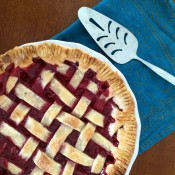 raspberry lattice pie