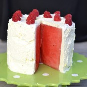sliced watermelon cake