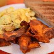 sweet potato bacon