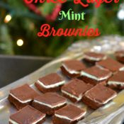 Three layer mint brownies recipe