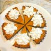Vegan squash pie with coconut cream