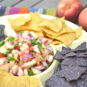 white peach salsa
