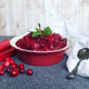 cranberry rhubarb sauce