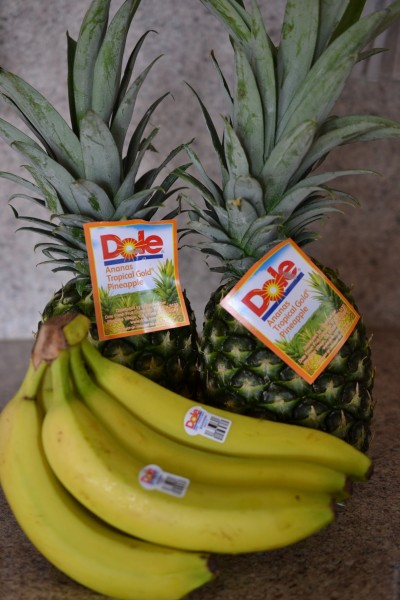 Dole pineapple and bananas