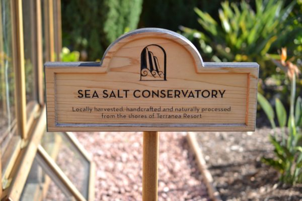 The sea salt conservatory at Terranea Resort.