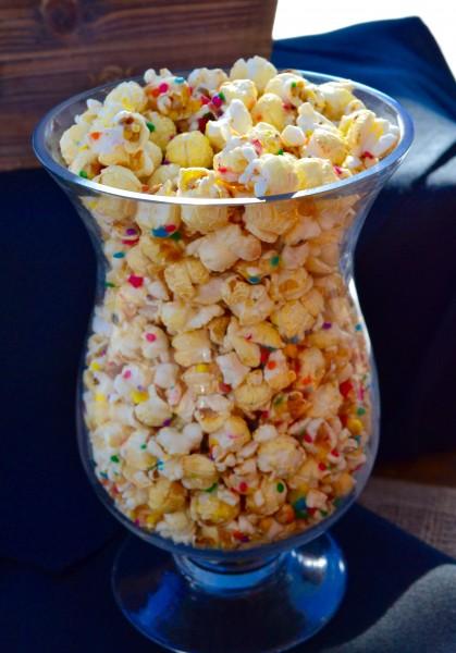 Birthday Cake flavor popcorn from Planet Popcorn