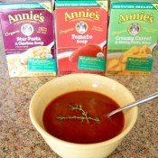 A selection of Annie's organic soups..