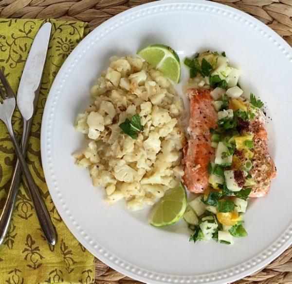 Sun Basket salmon dinner