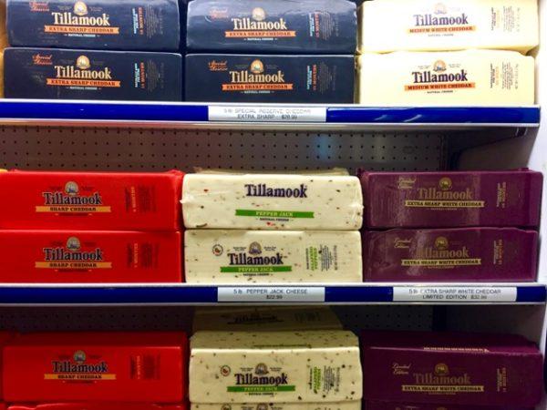 Tillamook cheeses