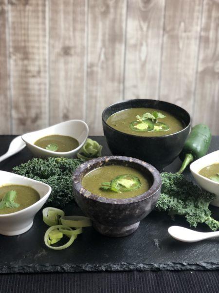 Kale Leek Coconut Soup