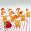 Strawberry Yogurt Cones