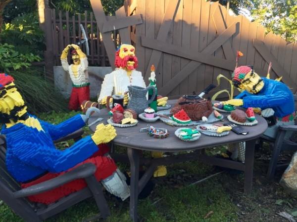 LEGO pirate banquet