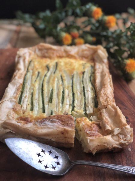 white asparagus tart