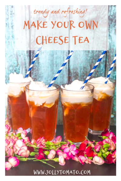 What is cheese tea? It's a trendy new beverage of iced tea plus a special whipped cream cheese topping. Here's a recipe to make your own.