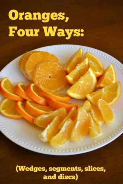 Oranges four ways