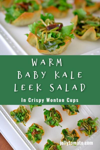 Warm Baby Kale Leek Salad