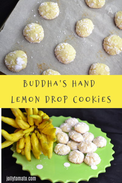 Buddha's Hand Lemon Drop Cookies