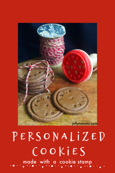 Personalized cookies with a cookie stamp
