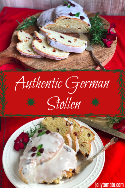 Authentic German Stollen for the Holidays