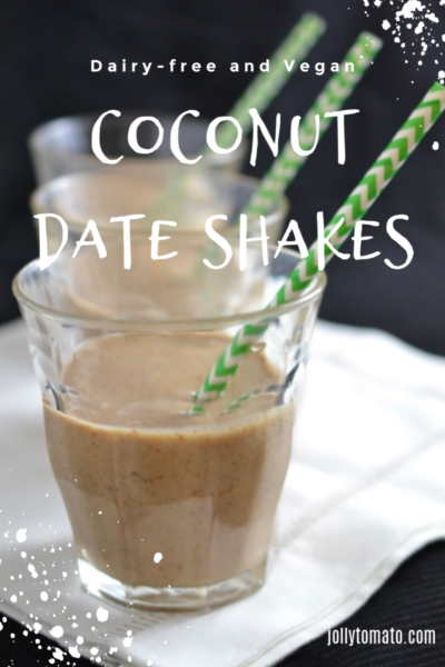 Coconut Date Shakes - Dairy-Free and Vegan