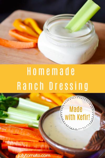 Homemade Ranch Dressing Made with Kefir
