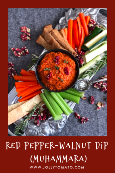 This red pepper walnut dip (muhammara) from the new Joy of Cooking is a colorful addition to your holiday table.