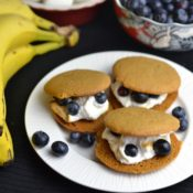 Blueberry Banana Gingersnap S'mores