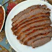 brisket and sauce