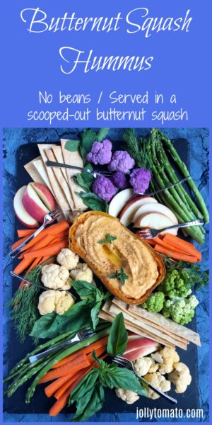 Butternut squash hummus: A no-bean recipe - and it's served in a scooped-out butternut squash.