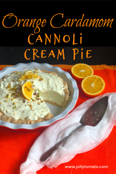 Orange Cardamom Cannoli Cream Pie