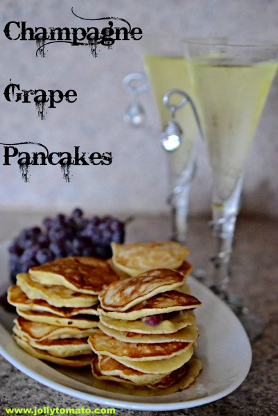 champagne grape pancakes