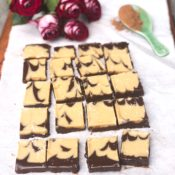 chocolate tahini fudge