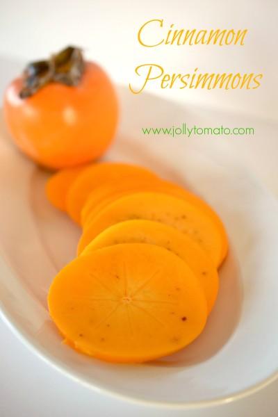 cinnamon persimmon slices