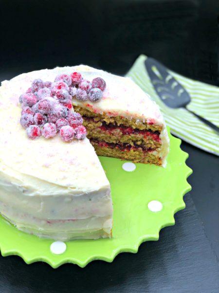cranberry ginger parsnip cake