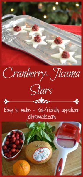 Cranberry jicama stars appetizer