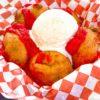 Chicken Charlie's Deep-Fried Brownies with Buffalo Sauce