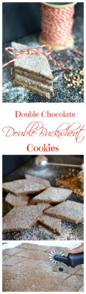 Double chocolate double buckwheat cookies with #OXOGoodCookies