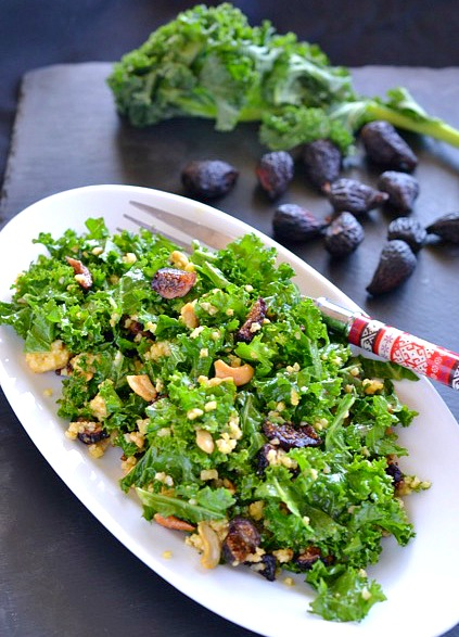 Fig Millet Kale Salad